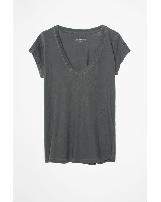 Zadig & Voltaire | Gray Tiny Overdyed T-shirt | Lyst