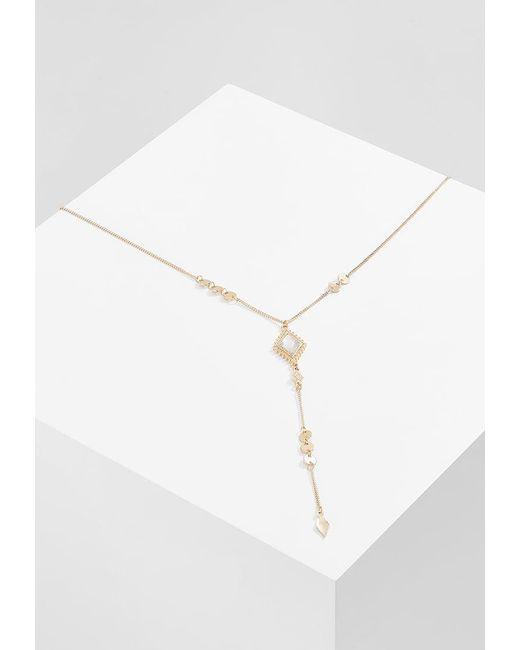 Miss Selfridge | White Diamond Necklace | Lyst