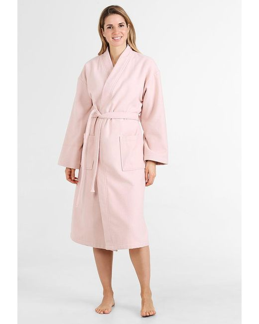 Mint&berry Dressing Gown in Pink | Lyst