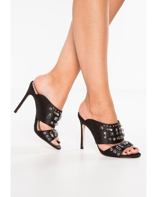 Miss Selfridge | Black Chorus Sandals | Lyst