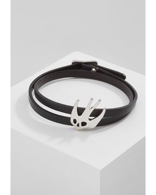 McQ Alexander McQueen   Black Swallow Mini Wrap Bracelet   Lyst