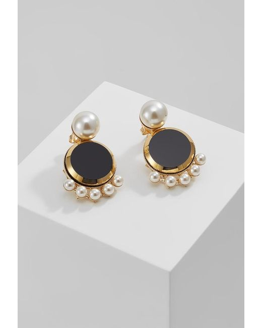 Anton Heunis | Black Pearl Fringe Disc Earring Earrings | Lyst