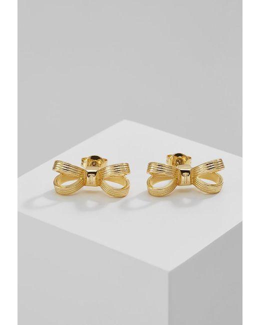 Ted Baker | Metallic Olsi Mini Opulent Bow Earrings | Lyst