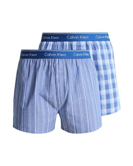 Calvin Klein | Blue 2 Pack Boxer Shorts for Men | Lyst