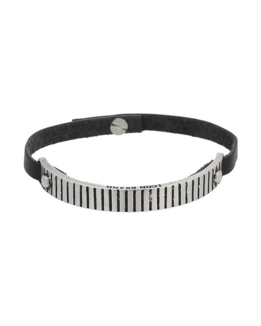 Icon Brand | Black Pay Attention Bracelet for Men | Lyst
