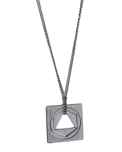 Icon Brand | Metallic The Circle Necklace for Men | Lyst