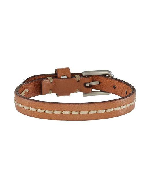 Fossil | Brown Vintage Casual Bracelet for Men | Lyst