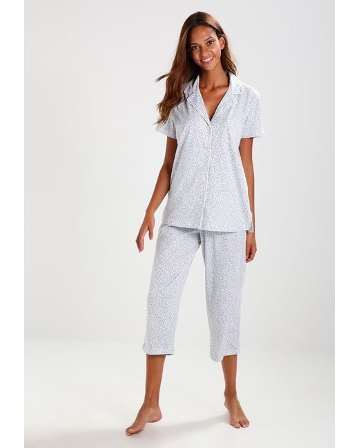 lauren by ralph lauren notch pyjama set in blue lyst. Black Bedroom Furniture Sets. Home Design Ideas