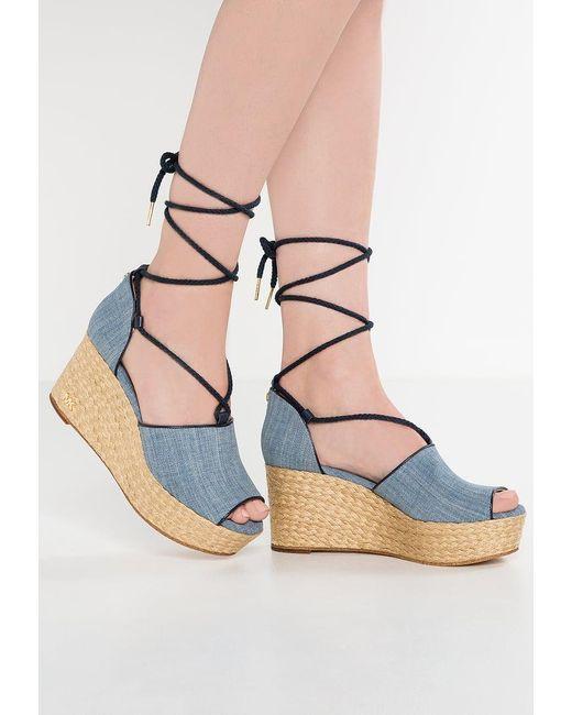 MICHAEL Michael Kors | Blue Hastings Wedge Sandals | Lyst