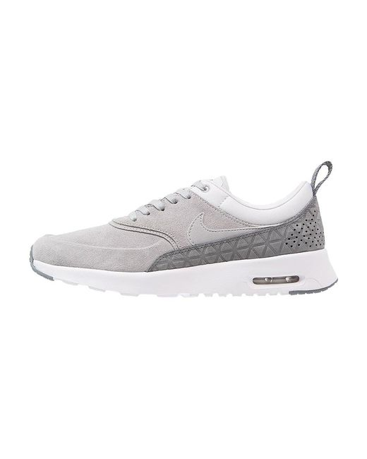 nike air max thea premium trainers in grey lyst. Black Bedroom Furniture Sets. Home Design Ideas