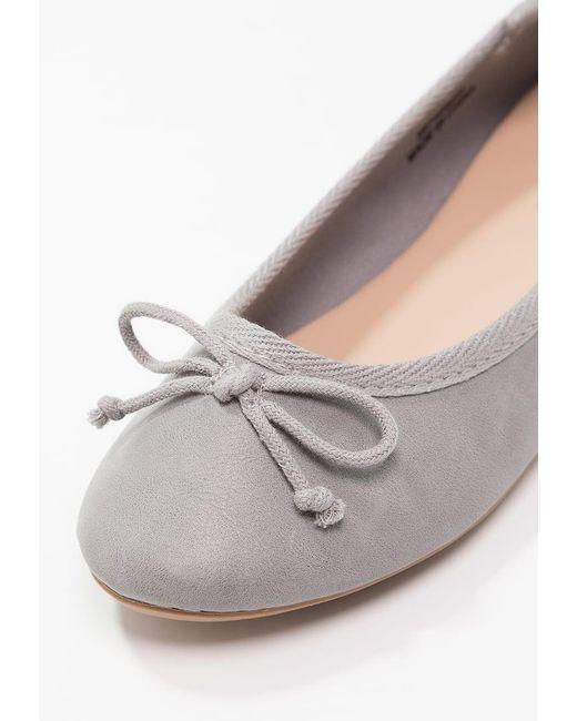 New Look | Gray Purist Ballet Pumps | Lyst