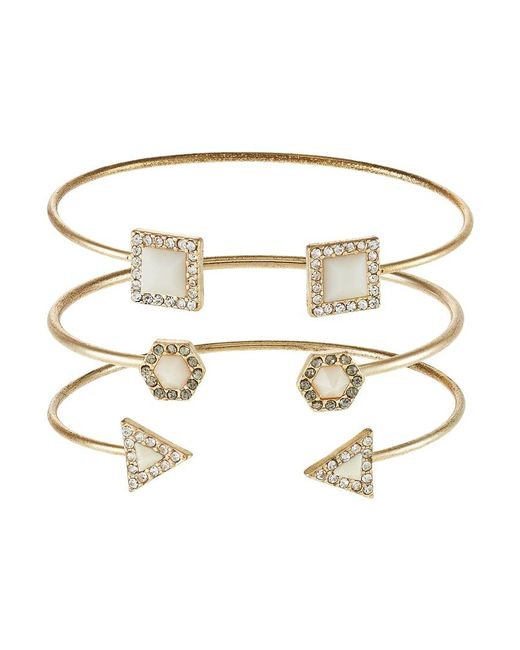 ONLY | Metallic Onlselina 3 Pack Bracelet | Lyst