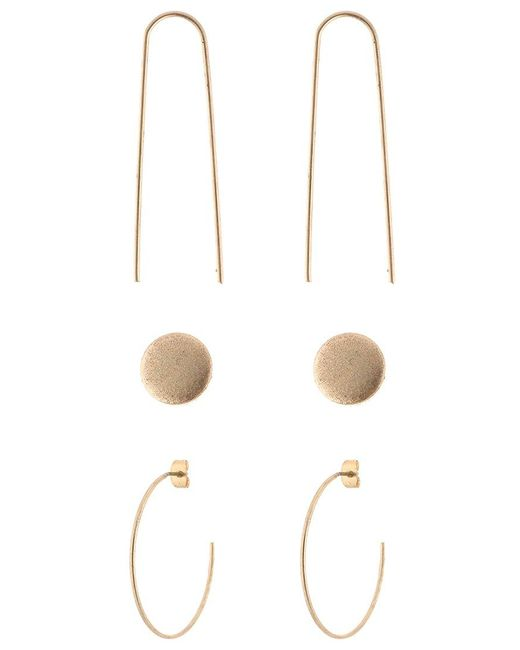 SELECTED | Metallic Sfkari Set Earrings | Lyst