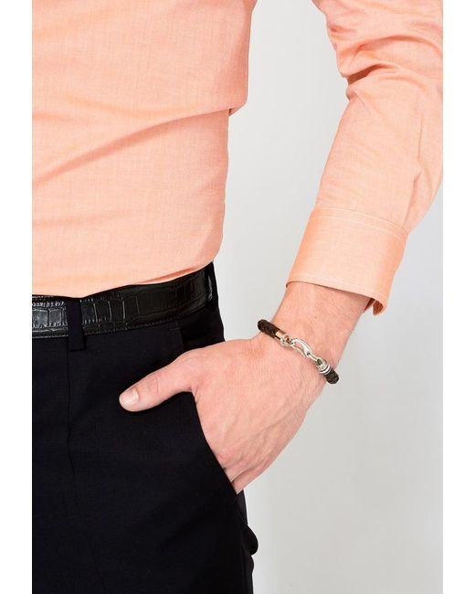tommy hilfiger bracelet in brown for men lyst. Black Bedroom Furniture Sets. Home Design Ideas