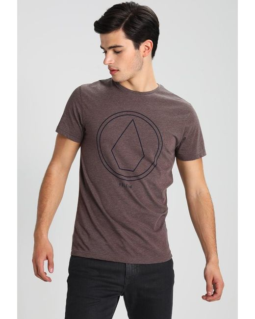 Volcom | Purple Pinline Stone Print T-shirt for Men | Lyst