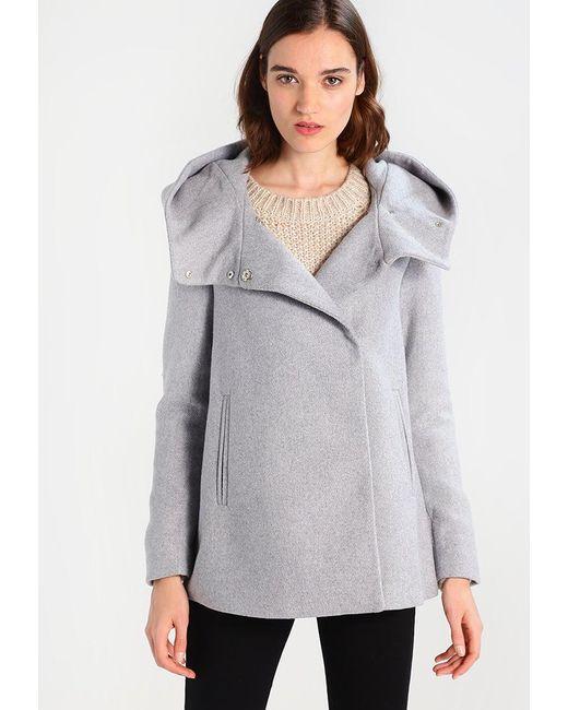 Vero Moda | Gray Vmcollar Wool Jacket Short Coat | Lyst