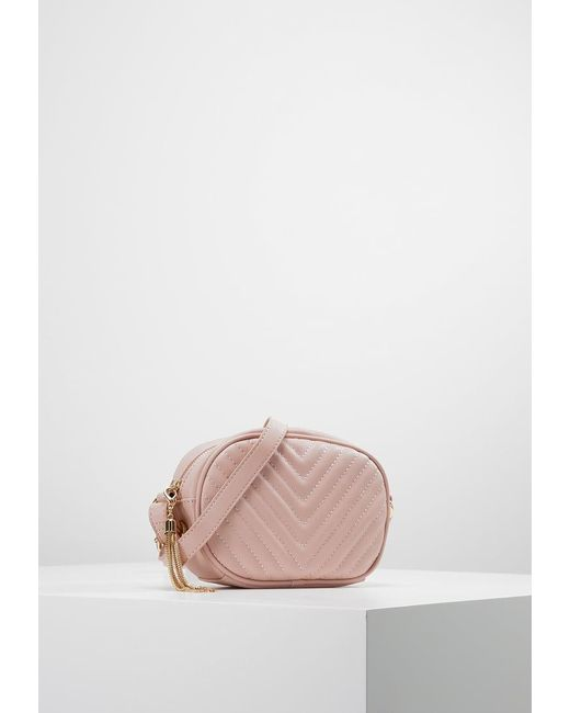 Missguided | Pink Chevron Quilted Across Body Bag | Lyst