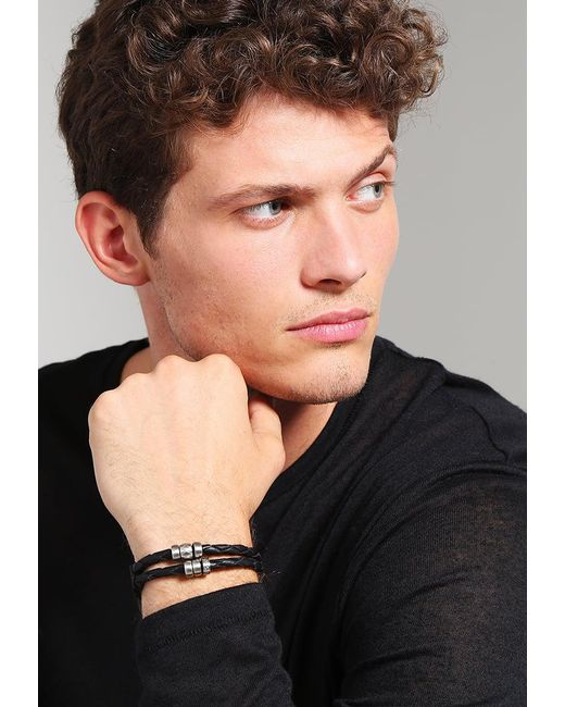Fossil | Black Vintage Casual Bracelet for Men | Lyst