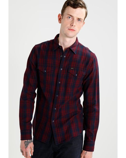 Lee Jeans | Red Western Slim Fit Shirt for Men | Lyst