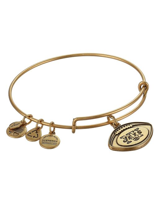 ALEX AND ANI | Metallic New York Jets Football Charm Bangle | Lyst