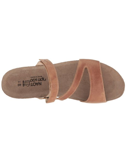 e0e63ad366fe4c Lyst - Naot Gabriela (vintage Slate Leather) Women s Shoes in Brown