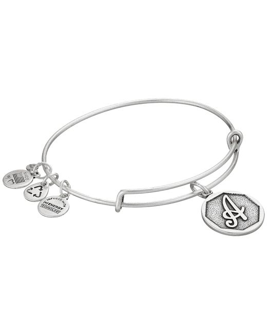 ALEX AND ANI - Metallic Initial A Charm Bangle - Lyst