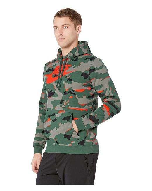 ... Nike - Gray Nsw Club Camo Pullover Hoodie (cool Grey anthracite white)  ... 9be9e0f28