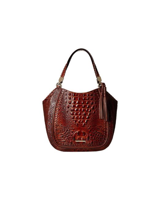 Brahmin Red Melbourne Marianna Bag Scarlet Handbags Lyst