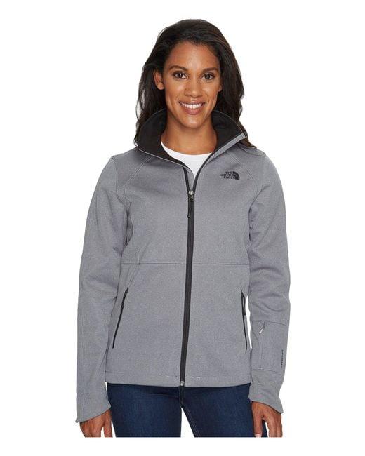 The North Face - Gray Apex Risor Jacket (tnf Medium Grey Heather) Women's Coat - Lyst