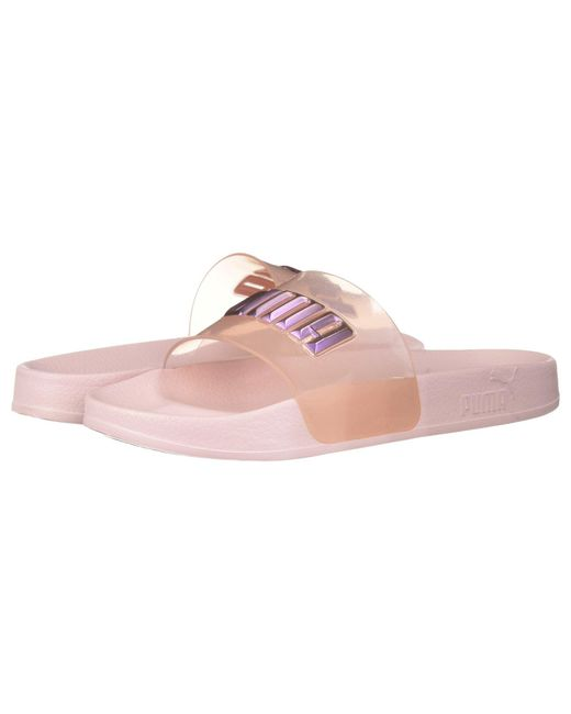 PUMA - X Sophia Webster Leadcat Glitter Princess Slide (barely Pink/orchid Bouquet) Women's Lace Up Casual Shoes - Lyst