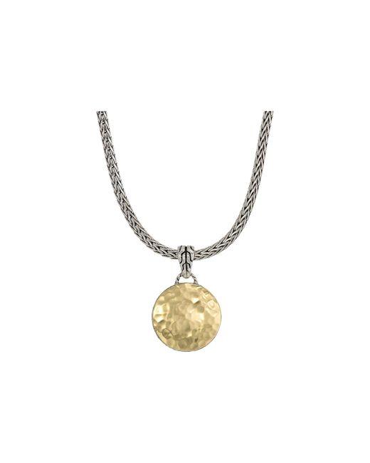 John Hardy - Metallic Dot Hammered Reversible Pendant Necklace - Lyst