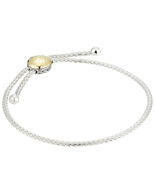 John Hardy - Metallic Classic Chain Hammered Pull Through Bracelet (silver/hammered Gold) Bracelet - Lyst