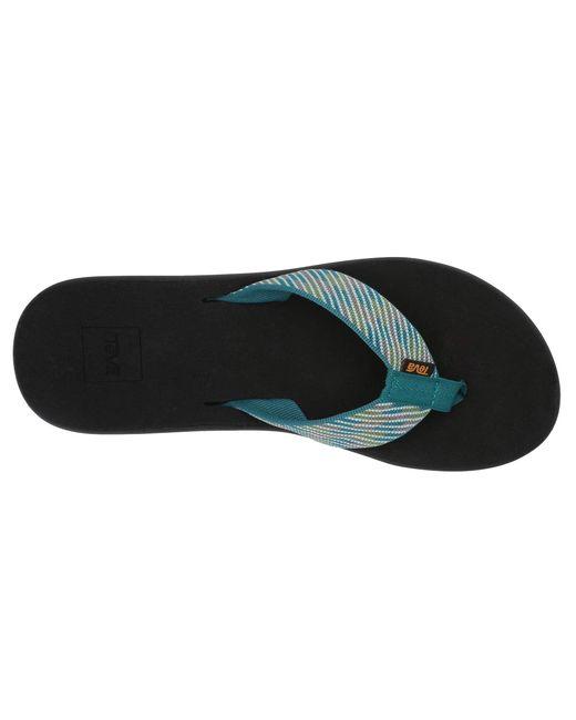 f4feb13f7eb3 Lyst - Teva Voya Wedge (motif Blackout) Women s Shoes in Black