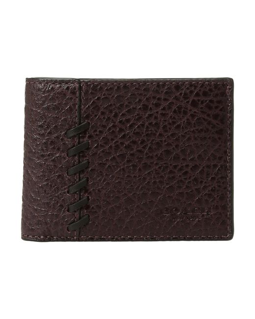 COACH - Brown Rip Repair Slim Billfold (oxblood) Bill-fold Wallet for Men - Lyst