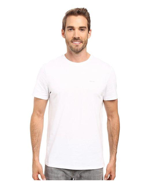 CALVIN KLEIN 205W39NYC - White Short Sleeve Pima Cotton Crew T-shirt for Men - Lyst