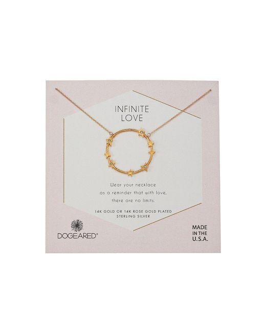 Dogeared - Metallic Infinite Love, Large Star Halo Necklace (sterling Silver) Necklace - Lyst