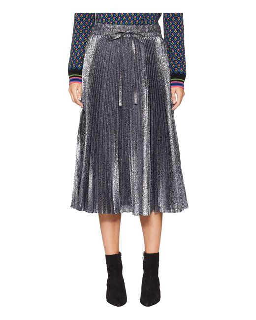 RED Valentino - Gray Cloque Flower Skirt (grey) Women's Skirt - Lyst