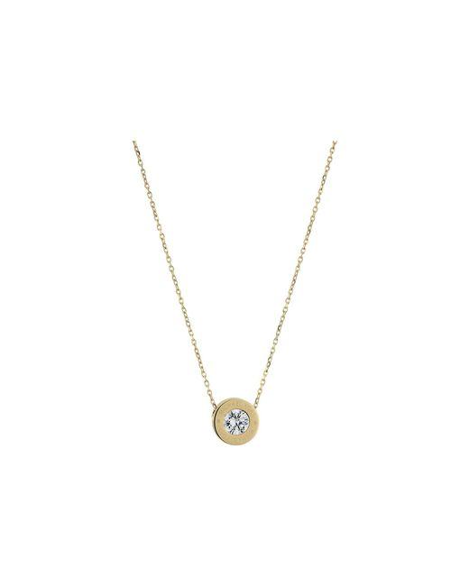 Michael Kors - Metallic Cubic Zirconium Logo Necklace - Lyst