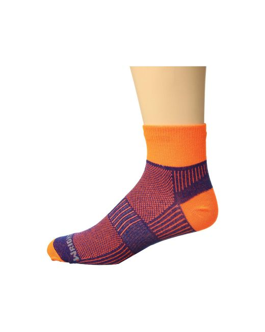 Wrightsock - Multicolor Coolmesh Ii Quarter (white) Quarter Length Socks Shoes for Men - Lyst