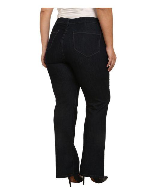 9854d9c892d53 ... NYDJ - Black Plus Size Isabella Trouser In Dark Enzyme (dark Enzyme)  Women s Jeans ...