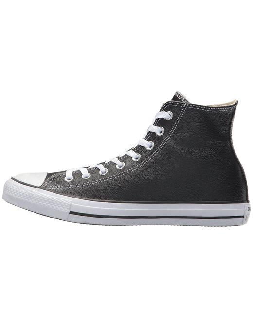 064b4f03a24c53 Lyst - Converse Chuck Taylor(r) All Star(r) Leather Hi (black Mono ...