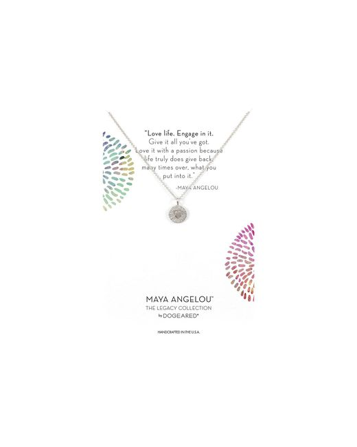 Dogeared - Metallic Maya Angelou: Love Life, Engage In It Necklace (gold Dipped) Necklace - Lyst