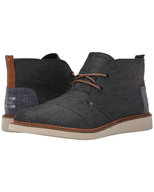 TOMS - Black Mateo Canvas Chukka Boots for Men - Lyst