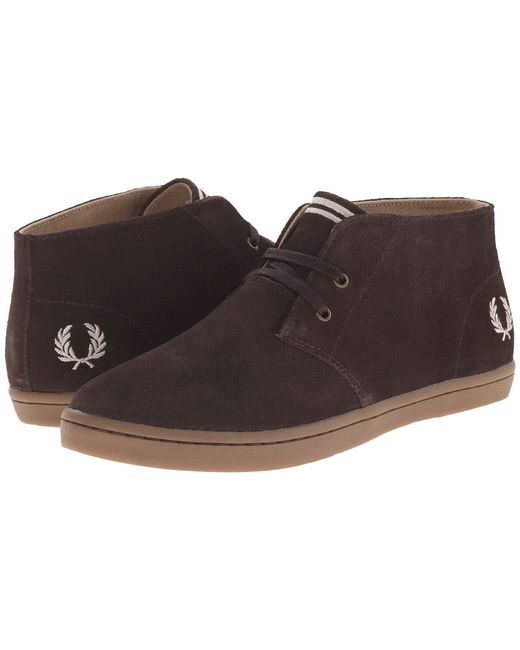 Fred Perry | Brown Byron Mid Suede for Men | Lyst
