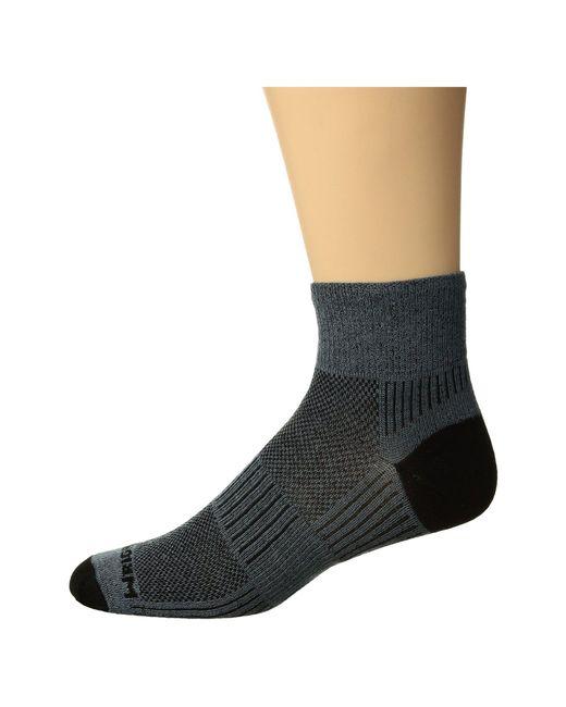 Wrightsock - Gray Coolmesh Ii Quarter (plum/pink) Quarter Length Socks Shoes for Men - Lyst