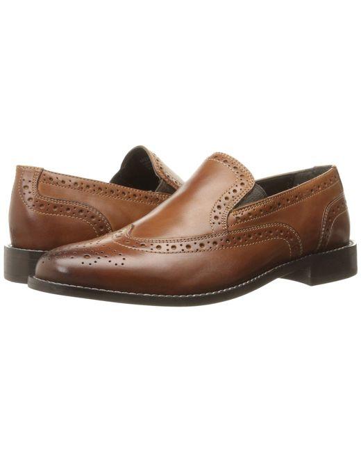Nunn Bush - Brown Norris Wing Tip Double Gore Dress Casual Slip-on (cognac) Men's Slip-on Dress Shoes for Men - Lyst