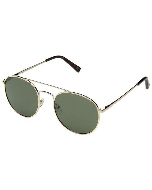 Le Specs - Multicolor Revolution (gold/khaki Mono Ploarized) Fashion Sunglasses - Lyst