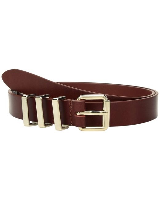 Rebecca Minkoff - Brown 25 Mm Flat Strap Smooth Leather Belts (black/nickel) Women's Belts - Lyst