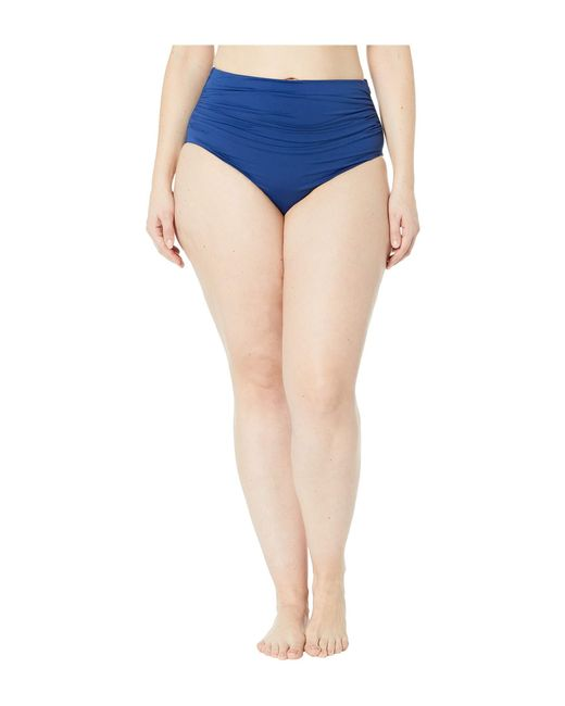 fa3c1a96cac34 Lauren by Ralph Lauren - Blue Plus Size Bias Ikat Shirred High-waisted Pant  ...