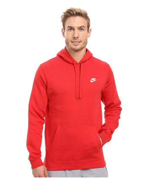 295bbc1ab4 Nike - Red Club Fleece Full-zip Hoodie for Men - Lyst ...